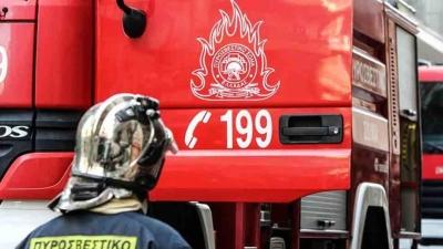 Πυρκαγιά σε εργοστάσιο ανακύκλωσης στο Σχηματάρι