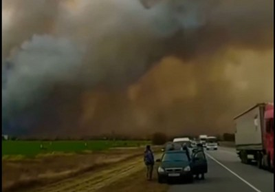 Ρωσία: Πυρκαγιά σε αποθήκη πυρομαχικών οδήγησε σε εκκένωση 10 χωριών