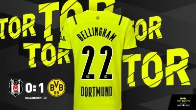 Μπεσίκτας - Ντόρτμουντ 0-1: Ανοίγει το σκορ ο Μπέλιγκχαμ μέσα στη «Vodafone Arena» (video)