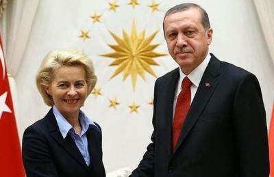 Συνομιλία Von der Leyen - Erdogan για σχέσεις ΕΕ - Τουρκίας και Ανατολική Μεσόγειο
