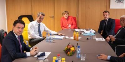 Σύνοδος Κορυφής: Σύσκεψη Μητσοτάκη με Merkel, Μacron και πρωθυπουργούς του Νότου