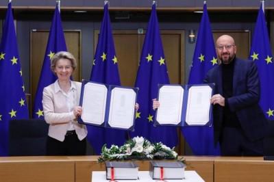 ΕΕ: Υπογραφή της συμφωνίας για το Brexit από Michel και von der Leyen