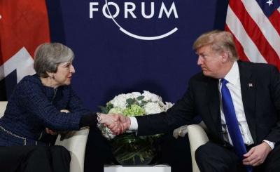 Εντός του 2018 επίσκεψη Trump στο Λονδίνο - «Σπουδαία» η σχέση με May, δηλώνει ο πρόεδρος ΗΠΑ