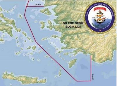 Οι τουρκικοί χάρτες που μοιράζουν το Αιγαίο στη μέση!