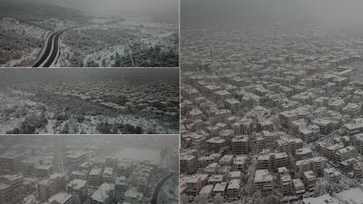 Πρόσκαιρη ύφεση από τη Μήδεια - Πυκνό χιόνι παντού - Χωρίς νερό και ρεύμα περιοχές της Αττικής - Τρεις οι νεκροί
