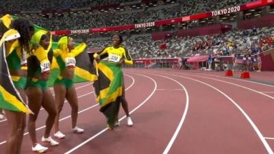 Στίβος: Το χρυσό μετάλλιο οι Τζαμαϊκανές στα 4χ100μ σκυταλοδρομίας