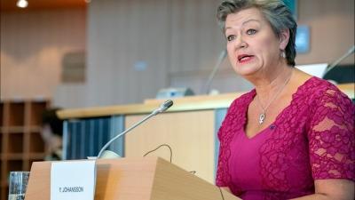 Johansson (Κομισιόν): Θετική η σύνδεση των εξωτερικών συνόρων της ΕΕ και του μεταναστευτικού