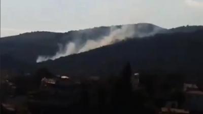 Φωτιά τώρα σε δασική έκταση στην Πάρνηθα