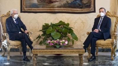 Ο Draghi αποδέχθηκε την πρόταση Mattarella για σχηματισμό κυβέρνησης: Είναι μια δύσκολη στιγμή για την Ιταλία