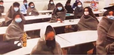 Πρωτόγνωρες εικόνες: Έκαναν μάθημα με κουβέρτες και ανοιχτά παράθυρα στην Ελβετία λόγω κορωνοϊού