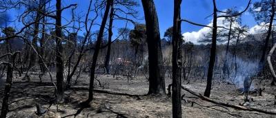 Βιβλική καταστροφή από τη μεγάλη πυρκαγιά στην Κορινθία
