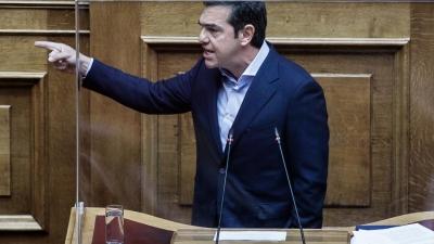 Βουλή - Η υποδοχή του Τσίπρα στον Γεωργιάδη